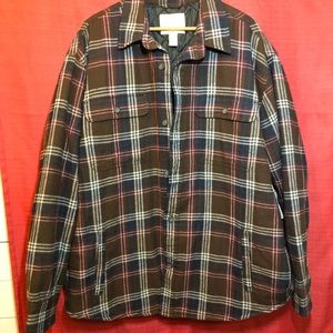 St Johns Bay Mens XXL Flannel Quilted Plaid